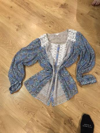 Шифоновая блузка з кружевом 16, XL