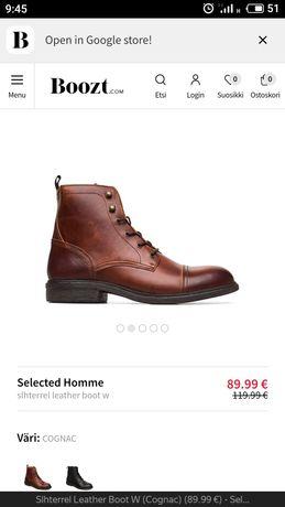 Мужские деми ботинки 44 размера Selected homme.
