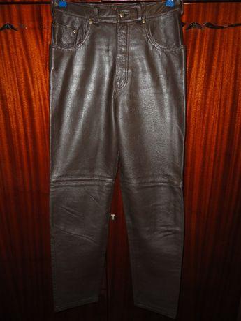 Трендовые кожаные брюки штаны (Leather натуральная кожа)