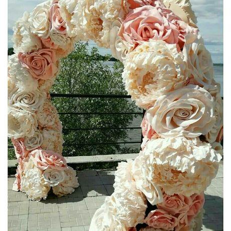 Квіти великі, арка, банер, фотозона