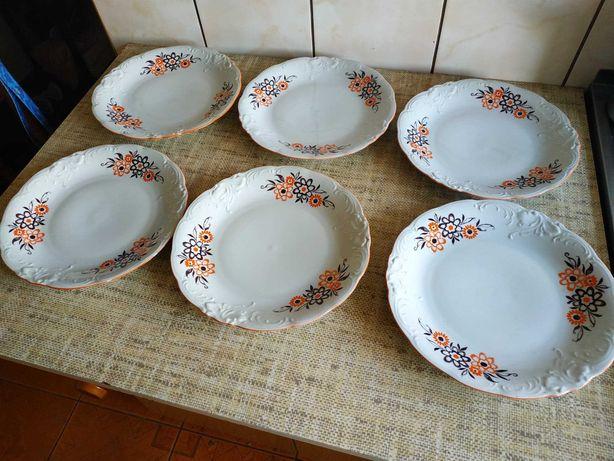 Sprzedam zestaw talerzy obiadowych Wawel PRL antyk ceramika