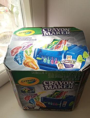 Crayola Crayon Maker Новая Машина для литья цветн восковых карандашей