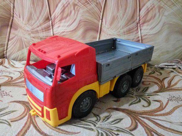 Большой грузовик самосвал КАМАЗ машинка 47см пластик толокар