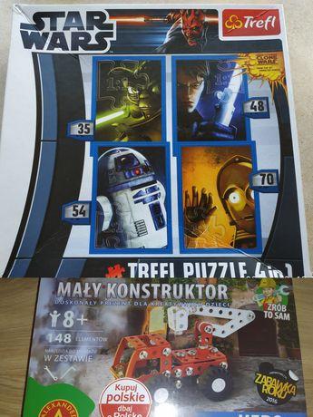 Zestaw dla chłopca puzzle Star Wars + mały konstruktor