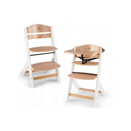 Krzesełko do karmienia KINDERKRAFT ENOCK 3w1 drewno biel DOSTAWA od 0z