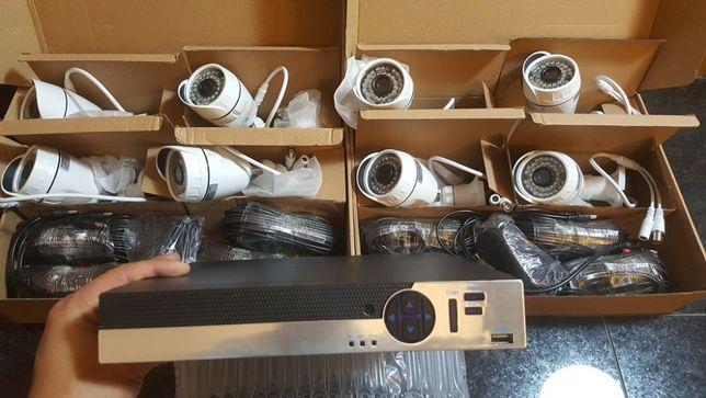 KIT 8 cameras 1080p HD Disco 1tb 8 cabos de 20m ver no telemovel net