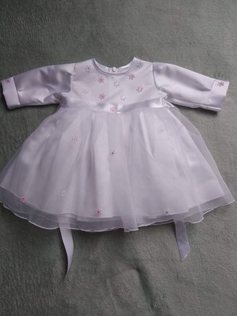 Sukienka biała chrzest