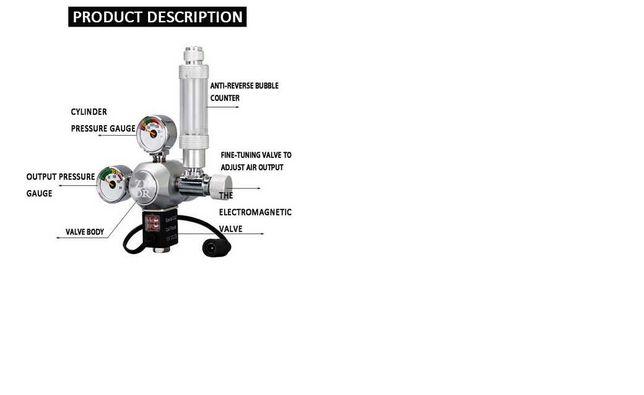 KIT CO2 com válvula solenóide ( NOVO ) W21.8-AC100-240V