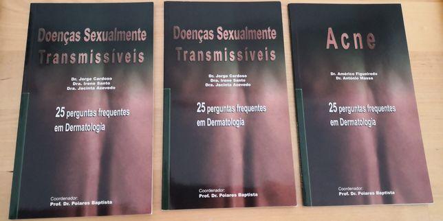 2 livros coleção 25 perguntas frequentes em Dermatologia