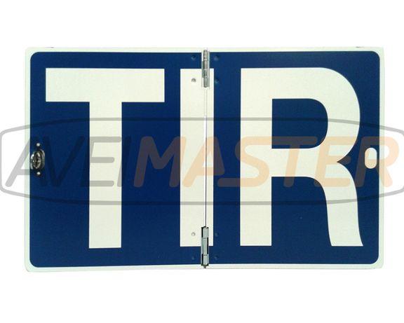 Placa Camiao T.I.R abrir Vertical 250x400x1mm Aluminio-Ref.766900