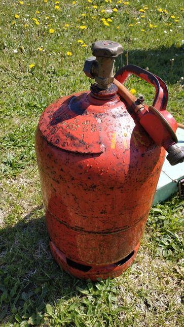 Duża butla gazowa turystyczna z dwoma palnikami!