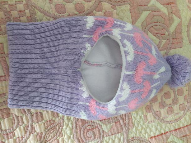 Зимняя шапка шлем 5-7 лет