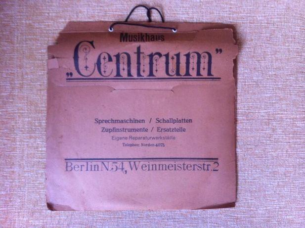 Niemecka płyta winylowa z 1938r.