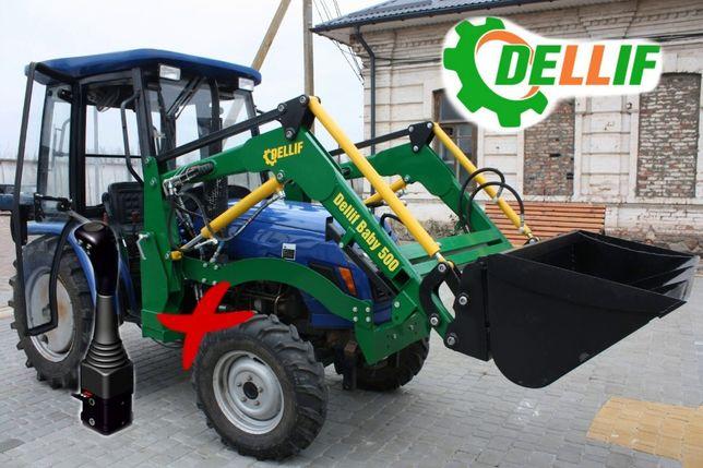 Фронтальный Погрузчик на мини-трактор КУН Деллиф 500 с джойстиком