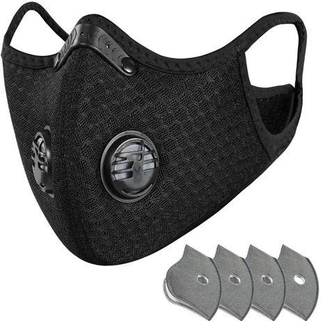 Maska, maseczka filtrująca ANTYSMOGOWA, ANTYWIRUSOWA + filtry węglowe