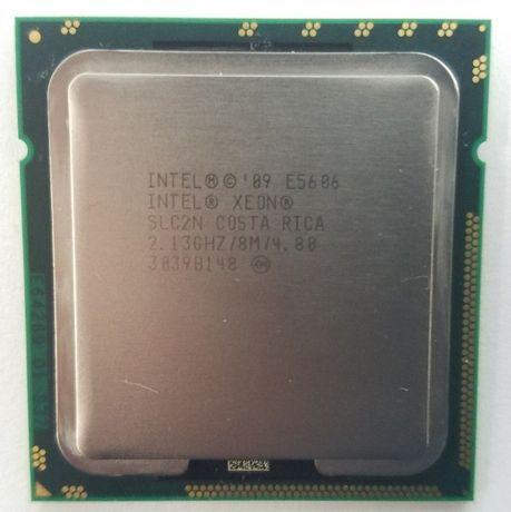 2шт . Intel® Xeon® E5606 8 МБ кэш-памяти, 2,13 ГГц, 4,80 ГТ/с 4 ядра