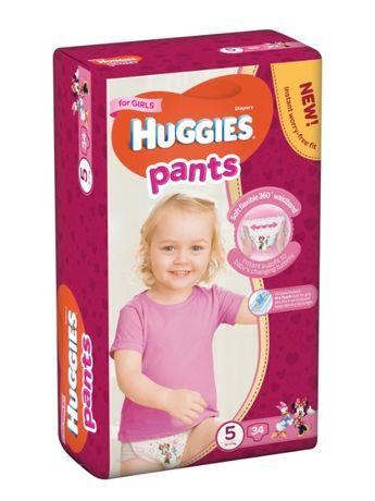 Продам памперсы трусики 5 Huggies на девочку (остаток 23 шт)