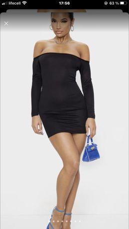 Черное платье PrettyLittleThing, с биркой