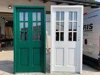 Drzwi Zewnętrzne Drewniane Ocieplane Angielskie ,białe,zielone,75mm