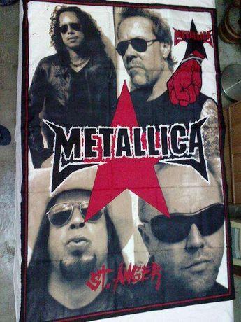 """ESPETACULAR Bandeira da Famosa BANDA """" M.E.T.A.L.L.I.C.A ."""" - Nova"""