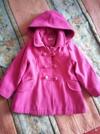 Пальто для девочки 110-116
