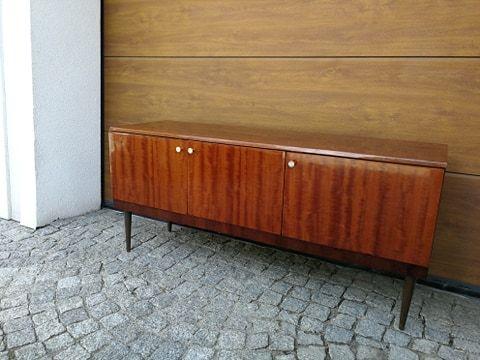 Jamnik Komoda Sideboard Design PRL Lata 60 Szafka Pod TV Vintage
