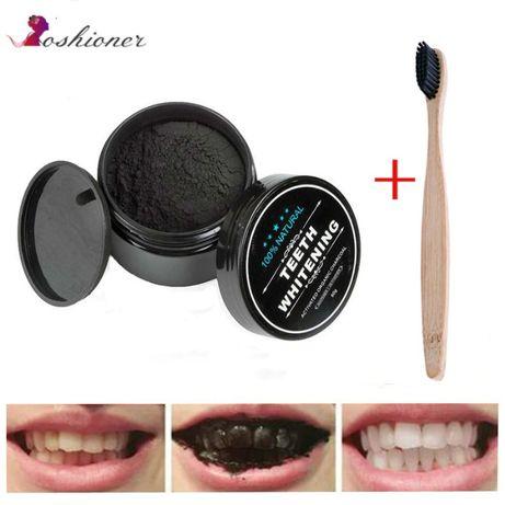 Węgiel aktywny PROSZEK do WYBIELANIA zębów 30ml GRATIS