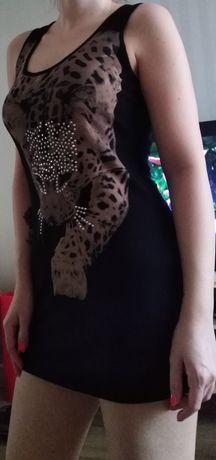 Bluzka tunika sukienka mini xs-m