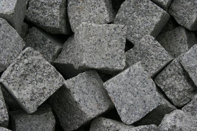 Kostka granitowa-6x4cm szara-jednostronnie cięta.