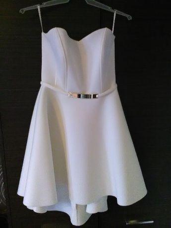 Sukienka kremowa,piankowa