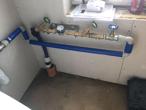 Przyłącza wod kan, wodne, gazowe, oczyszczalnie, szamba, hydraulik