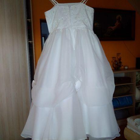 Śliczna elegancka biała suknia rozmiar 8 super, jak nowa!