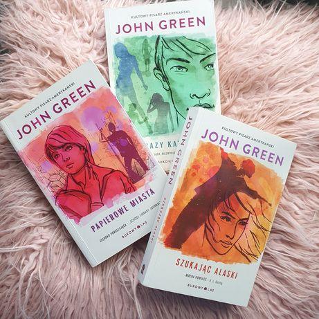 Zestaw książek John Green Papierowe miasta 19 razy Katherine Szukając