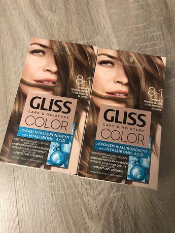 2pak farba do wlosow Gliss Color 8.1