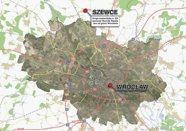 Działki przemysłowe 1 km od Wrocławia - Szewce 110 zł/m2 od 3000 m