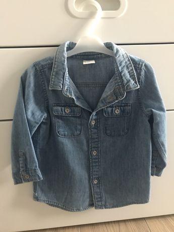 Koszula jeansowa chłopięca hm 80