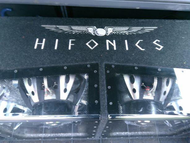 Skrzynia Hifonics wzmacniacz Magnat rx mono 1000wat rms tuba kable
