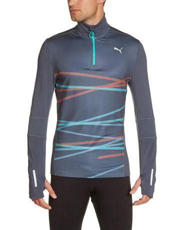 Bluza biegowa treningowa PUMA graphic 1/2 zip r. XL