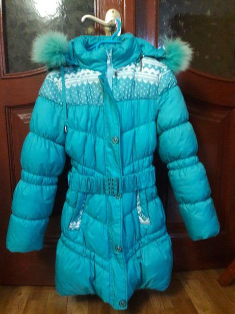 Куртка.Пуховик для дівчинки на 7-10років
