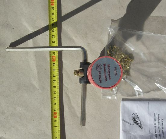 Miarkownik ciągu do kotła pieca Honeywell FR-124 - NOWY