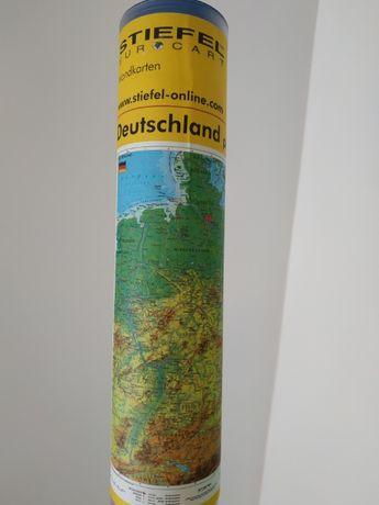 Mapa fizyczna Niemcy po niemiecku