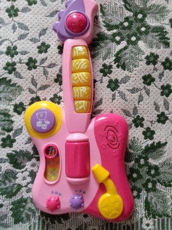 Детская развивающая музыкальная гитара