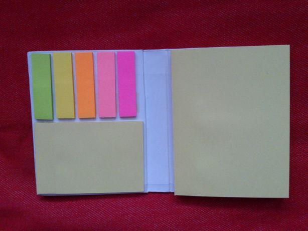 Karteczki samoprzylepne + kostka biurowa