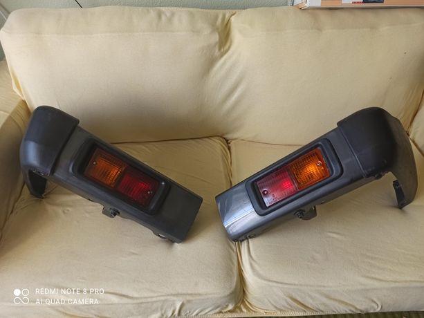 Toyota Land Cruiser, pára-choques traseiro, cantos e farolins.