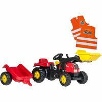 Traktor na Pedały z Łyżką i Przyczepą - ROLLY TOYS rollyKid 2-5 Lat +
