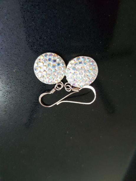 Kolczyki srebrne 925 Swarovski z kryształkami nowe