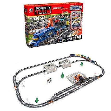 Железная дорога жд поезд Power Train 53 детали, длина трассы 549 см