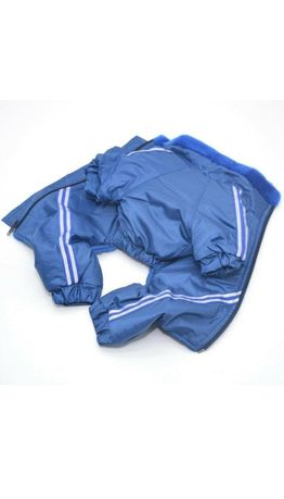Комбинезон для собак с мехом (синий)