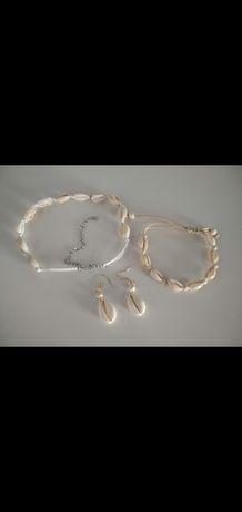 Komplet biżuterii muszelki