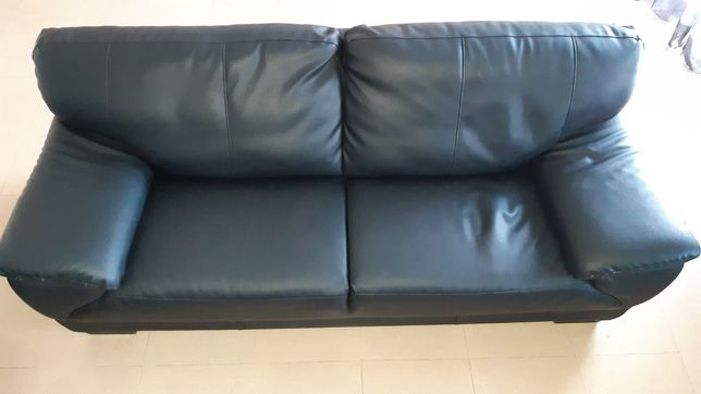 Sofá 3 pessoas (preto 210×90)